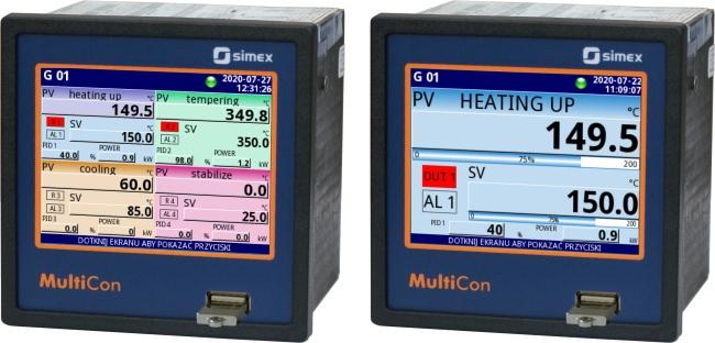 Trình ghi dữ liệu MultiCon có chức năng của chế độ xem điều khiển 4ControllerView