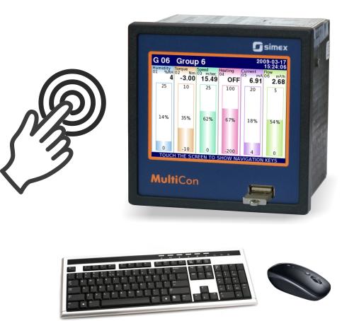 Bộ ghi dữ liệu MultiCon với màn hình cảm ứng
